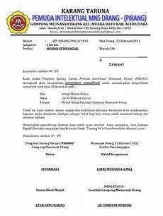 surat permohonan sumbangan karang taruna