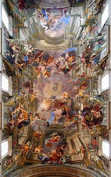 fresco old a 300 year fresco by andrea pozzo the entire ceiling