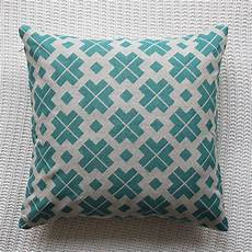 patterned linen cushion cover by silk burg