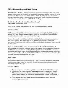Mla Heading Examples Mla Research Paper Format Section Headings How To Write