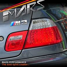 E46 M3 Lights Clear Red Led Lights For Bmw 3 Series E46 2d Coupe 99
