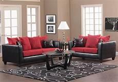 fabric and black vinyl modern sofa loveseat set w