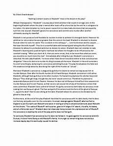Macbeth Essay Conclusion Pdf Essay On Macbeth Text Response Dilani