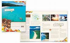 Travel Guide Brochure Template Hawaii Travel Vacation Brochure Template Word Amp Publisher