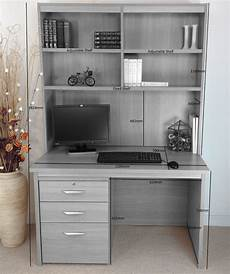 home office desk with drawers filing cabinet and hutch