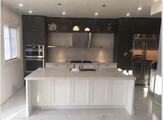 Calacatta nuvo caesarstone kitchen, island and backsplash   MaxSpace Stone Works