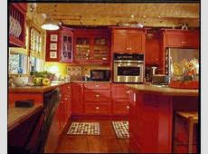 kitchen wall in paprika and cupboards red   the wall heater unit behind the island ferrari