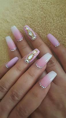 Black White And Pink Nail Designs 36 Pretty Nail Design Ideas With Diamond For Addition