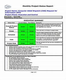 Monthly Status Report Template 12 Sample Status Report Templates Word Pdf Free