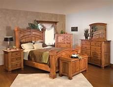 luxury amish rustic cherry bedroom set solid wood