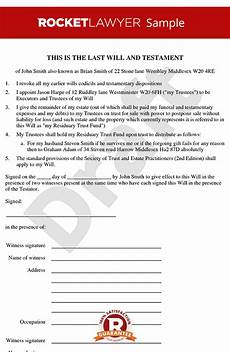 How To Make A Will Online For Free Will Template Free Last Will Amp Testament Form Online