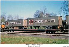 ttx railroad ttx flat car 253839 w two icg trailers reproduced 35mm