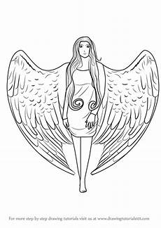 Drawing Of Angel Wings Learn How To Draw An Angel With Wings Angels Step By