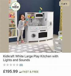 Kidkraft Large Play Kitchen With Lights And Sounds White Playset Kidkraft Large Kitchen With Lights And Sounds In