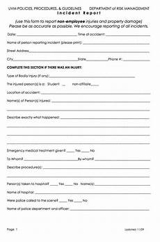 Incident Accident Report Template 13 Incident Report Templates Excel Pdf Formats