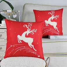 calitime pack of 2 soft canvas throw pillow covers cases