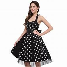 fashion summer 50s 60s vintage polka dots dress 2017