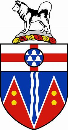 the chronicle of in white coats between coat of arms of yukon