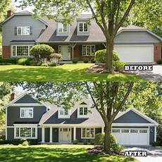 before and after using hardie siding home