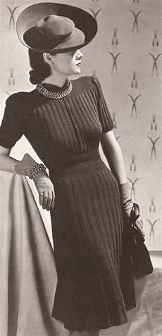 vintage knitting pattern to make vogue designer dress rib