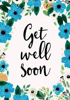 Words For A Get Well Card Blue Amp Orange Get Well Soon Card Free Greetings Island
