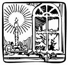 Malvorlage Weihnachten Fenster Kostenlose Malvorlage Weihnachten Kerze Im Fenster Zum