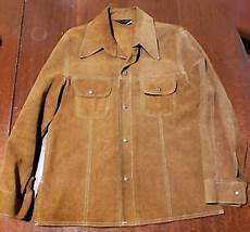 Light Brown Suede Jacket Mens Vtg 1970s Jcpenney Light Brown Suede Leather Shirt Jacket