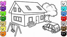 3d house courtyard coloring pages for kids youtube
