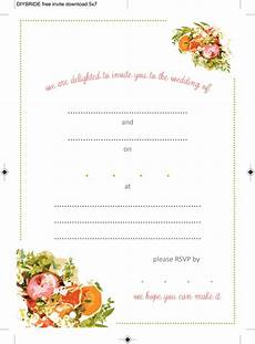 Invitation Outlines Wedding Invitation Templates That Are Cute And Easy To