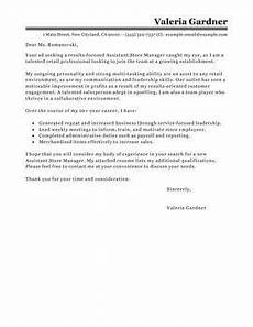 Cover Letter Retail Manager Leading Retail Cover Letter Examples Amp Resources