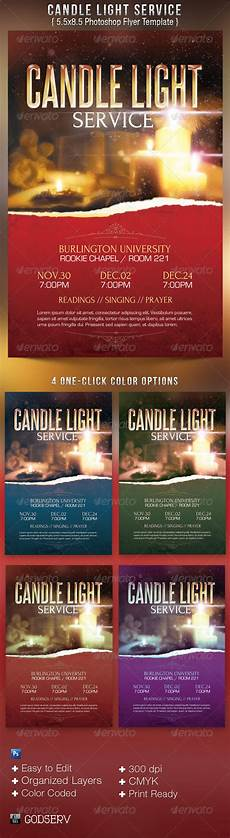 Christmas Lights Flyer Template Candle Light Service Flyer Templates 6 00 Flyer