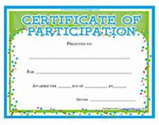 Free Printable Participation Certificates Printable Certificates Of Participation Awards Templates