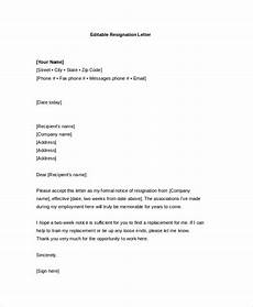 Form Letter Template Word Resignation Letter 22 Free Word Pdf Documents Download