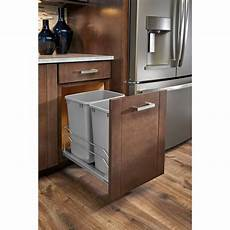 rev a shelf 35 qt pull out silver waste container