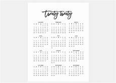 at a glance calendar 2020 2020 calendar simple calendar 2020 year calendar 2020 etsy