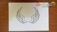 Drawing Of Angel Wings How To Draw Angel Wings Step By Step For Beginner Youtube