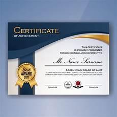 Certificates Of Achievement Free Templates Certificate Of Achievement Template Free Vector