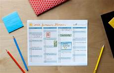 Summer Planner Calendar Printable Calendar Designed For Families