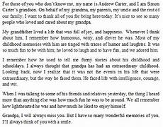 Funeral Speech For Grandpa How To Write A Tribute To My Grandfather Tips And Sample