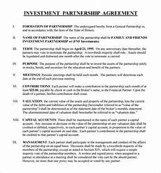 Sample Investor Agreement Free 14 Sample Business Investment Agreement Templates In
