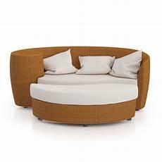Wicker Rattan Sofa 3d Image by Wicker Sofa With Footrest 3d Model Max Obj Fbx C4d