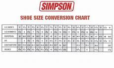 Ladies Footwear Size Chart Men Shoe Size Charts Activity Shelter