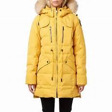 coats pajar pajar winter coat parka mustard yellow fur