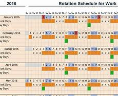 Rotation Schedule Rotation Schedule For Work My Excel Templates