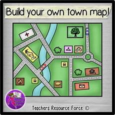 Build Your Own Flow Chart Build Your Own Town Map Clip Art Color And Black Line