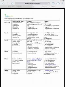 Diet Chart For Mother Sample Meal Plan For Healthy