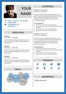 Blue Resume Paper Fitzroy Modern Border Resume Template