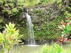 tropical island waterfalls tropical waterfall on maui