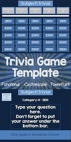 Trivia Game Powerpoint Template Trivia Game Template For Classroom Use Only Science