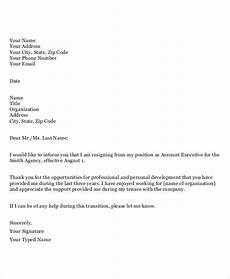 Exit Letter To Employer Appreciative Resignation Letter 7 Free Word Pdf